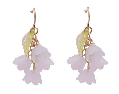 Very,Pretty,Snowdrop,Flower,Blossom,Acrylic,Drop,Hook,Earrings,-,Cute,and,Quirky,In,Organza,Bag.,Very Pretty Snowdrop Flower Blossom Acrylic Drop Hook Earrings - Cute Pretty and Quirky - In Organza Bag.