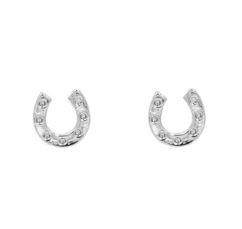 Silver,Plated,Tiny,Little,Horseshoe,Good,Luck,Stud,Earrings,-,Dainty,and,Discreet,Cute,,Fun,Quirky,Jewellery,In,Organza,Bag.,Silver Plated Tiny Little Horseshoe Good Luck Stud Earrings - Dainty and Discreet - Cute,  Fun and Quirky Jewellery - In Organza Bag.