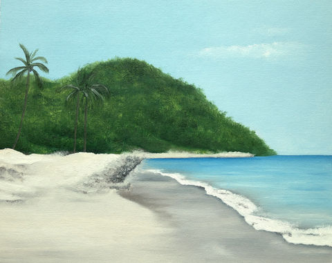 when,the,time,comes,(original),tropical painting, ocean, sea, blue, puerto vallarta, beach, sand, nature, island