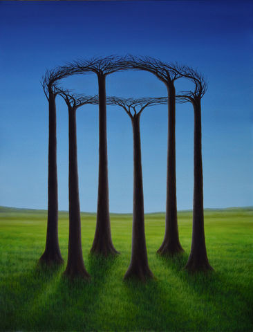 New,Order,(original),surreal painting, trees, landscape, surreal, nature