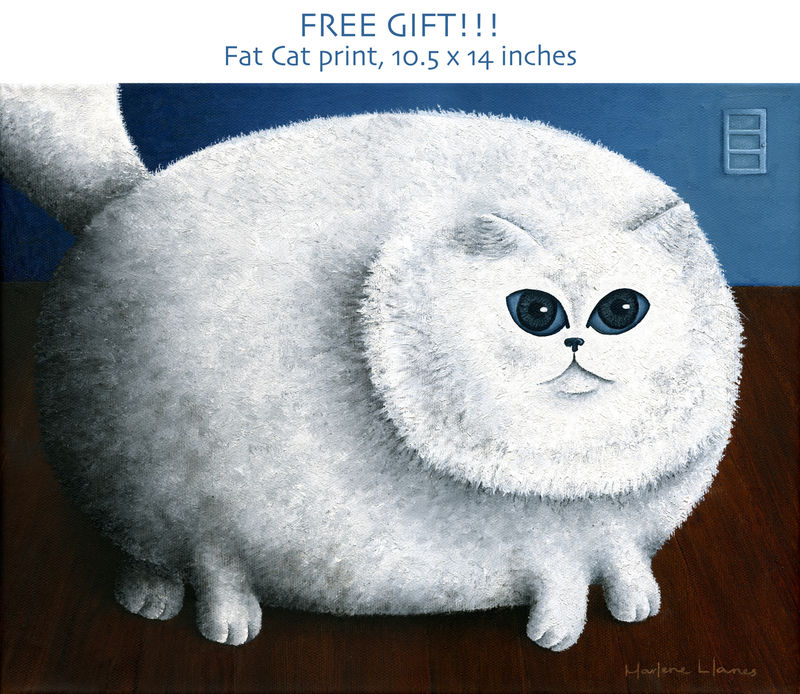 Fat Cat With Frog (original plus free gift!) - product images  of