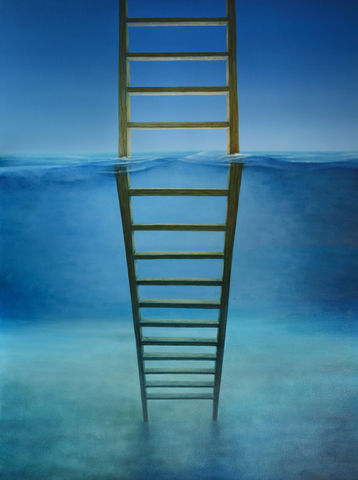 Underwater,Ladder,(print),underwater ladder, ocean, wave, beach