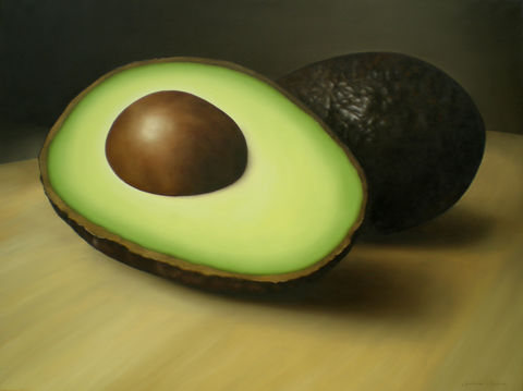 Avocados,(original),avocados painting, fruit, kitchen decor