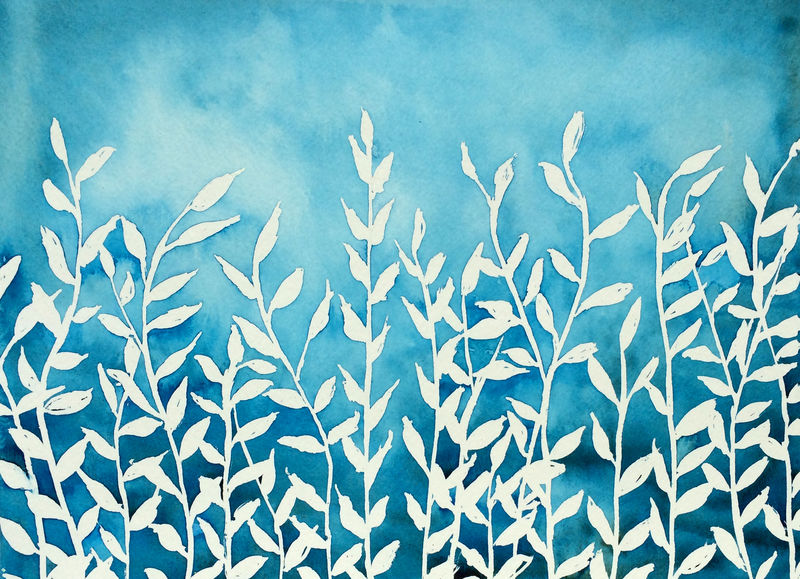 Blue Nature (original watercolor) - product images