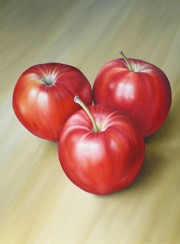 Apples,(print),apples, fruit, oil painting, apples painting