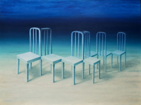 In,the,Right,Place,(print),surreal painting, surreal, nature, chairs, underwater