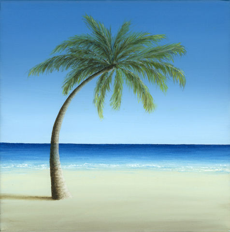 Palm,Tree,on,the,Beach,(original)