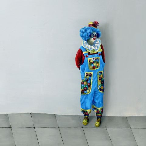Curious,Clown,(print),clown