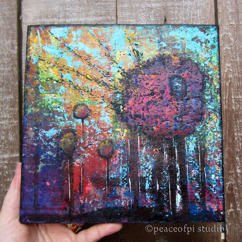 Abstract,Trees,Original,Forest,Painting,abstract, painting, canvas, acrylic, original, urban, modern, landscape, trees, forest, woodland, palette knife, knife painting, outdoor, wood, dark, paint, square, semi-abstract, textured