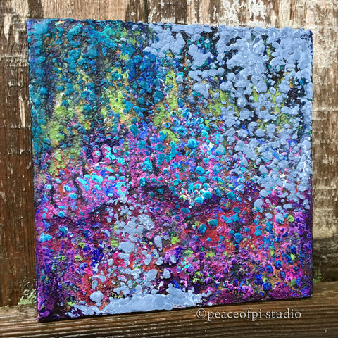 Textured,Ocean,Original,Underwater,Abstract,Painting,abstract, painting, canvas, acrylic, ocean, underwater, sea, oceanic, sea life, original, palette knife, modern, small, paint, square, landscape, semi-abstract, textured
