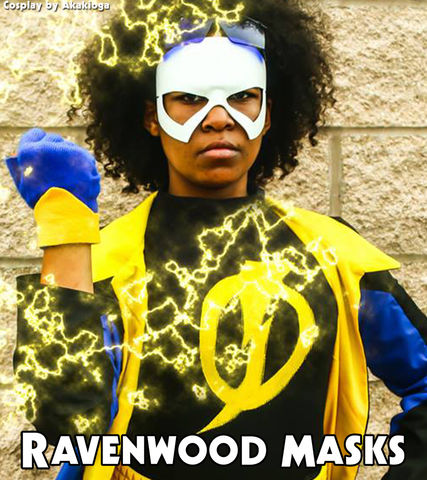 Shock,-,leather,superhero,mask,static shock cosplay, costume, halloween costume, black cosplay, bandit,cosplay,comic_con,comic_book,venetian_mask,halloween,mardi_gras,leather_mask,burning_man,role_play,costume,bandit