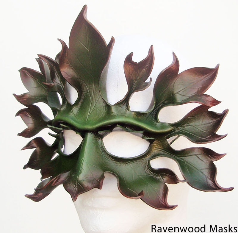 Greenman - leather mask - product images  of