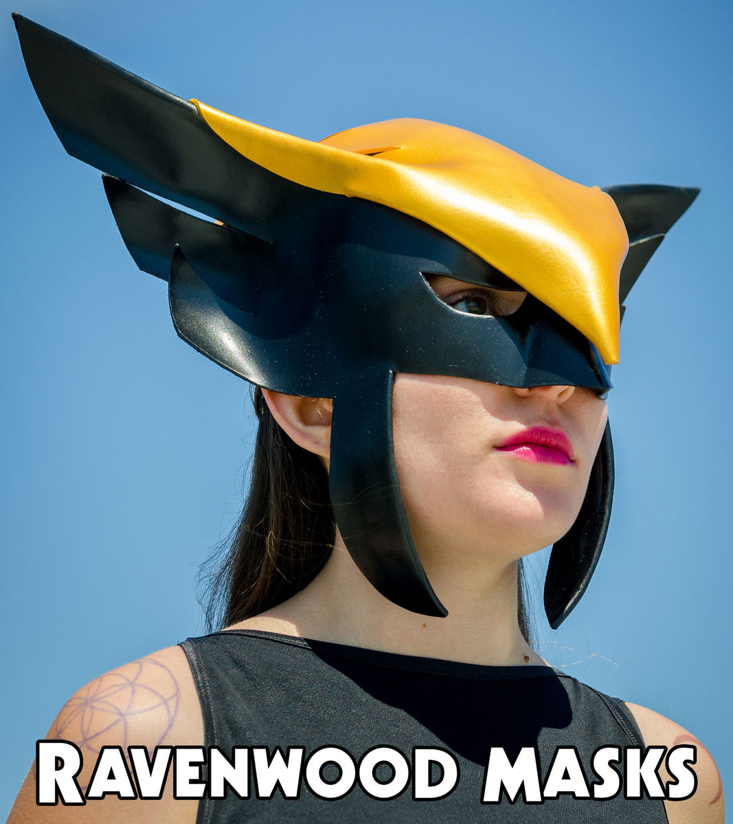 Hawkgirl cosplay leather mask
