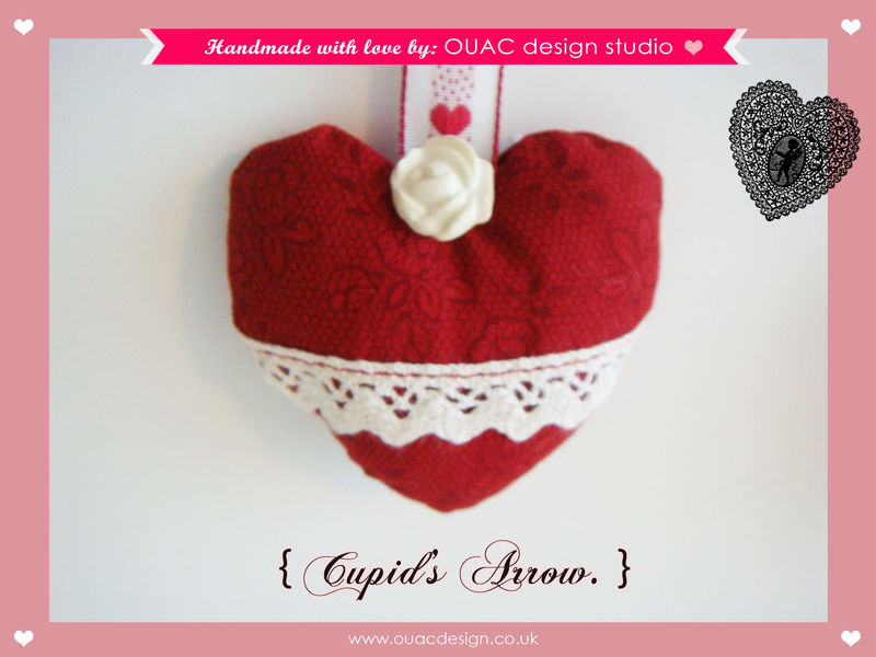 Valentine Special Love Heart Cupid S Arrow Bookmark Valentine S Gifts Free Uk Delivery Once Upon A Creation Design Studio