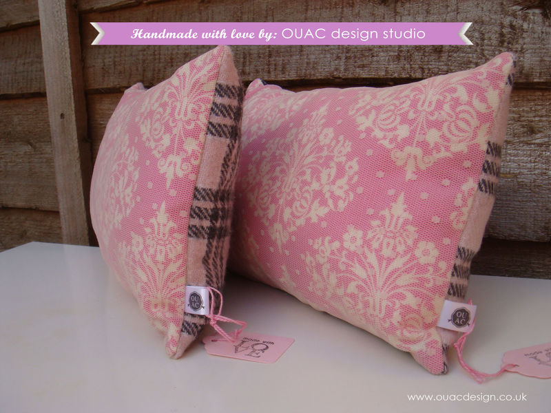 Luxury & Elegant Pink, Dotty Lace Pillow/Cushion, FREE UK Delivery - product images  of