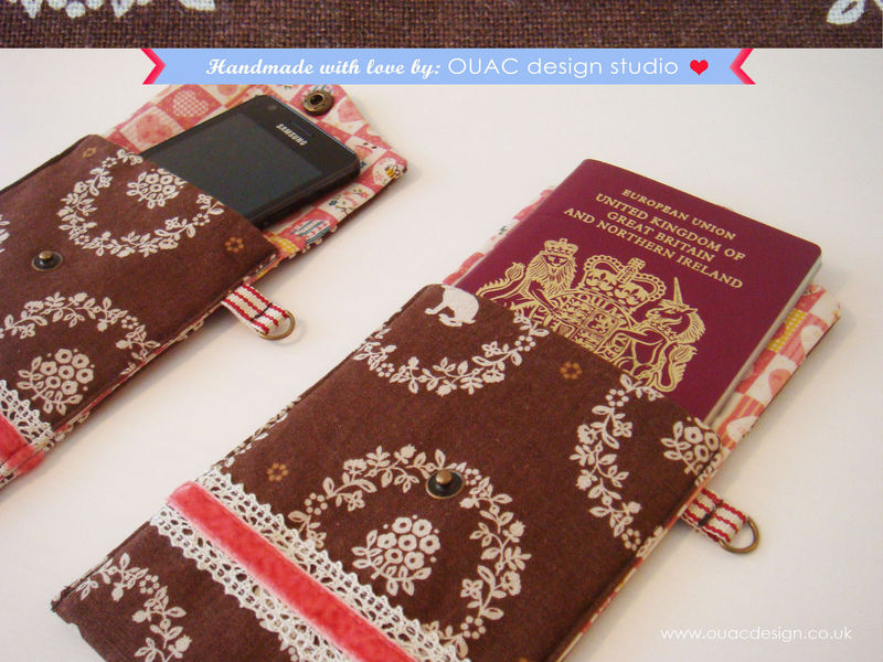 Winter Collection - Ornament Animal Brown Print iPod/iPhone Case, Passport Case with Sweet Girl Button. Free UK Delivery - product images  of