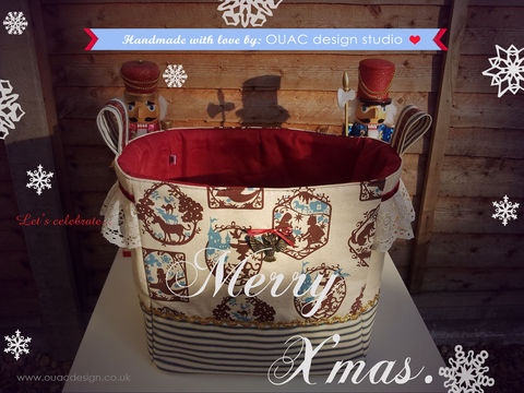 ((SOLD)),-,Custom,Orders,Welcome.,2011,X'mas,Winter,Collection.,Special,Edition,Magical,Fairytale,Celebration,--,Lovely,fabric,storage,---,Ex,Big,Size.,Free,UK,Shipping,Housewares,Basket,Fabric_storage,Lace,Linen,Christmas,Red,Owl,Owl_Charm,Denim,Cotton,Heart,Creamy_white_lace,white_lace,Lace_Trim,Gold_weavy_trim,Bottom_support,Velvet_ribbon,Luxury_ribbon
