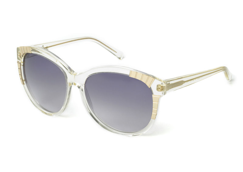 Mirror Ball - Gold Decor Round Frame Sunglasses - product images  of