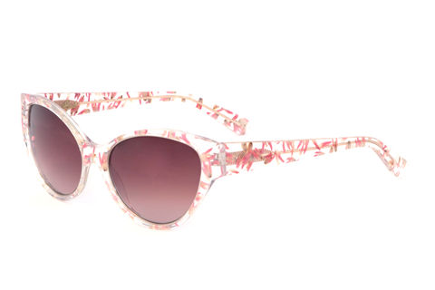 Pink,Floral,Cat,Eye,Frame,Sunglasses,Heidi London, Pink Floral cateye frame sunglasses