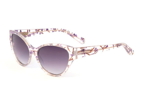 Forget-Me-Not,Cat,Eye,Frame,Sunglasses,Heidi London, Forget-me-not Petals Floral Cat Eye Frame Sunglasses