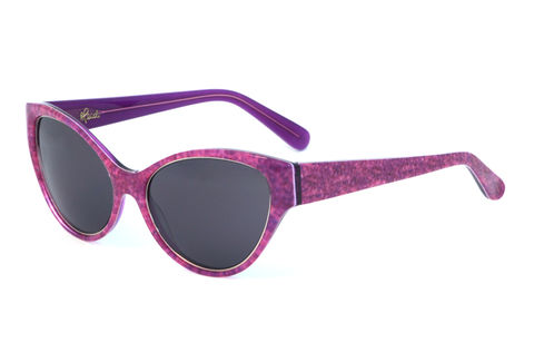 Denim,Print,Cateye,Frame,Sunglasses,Heidi London, Fuchsia Denim Print Cateye Frame Sunglasses