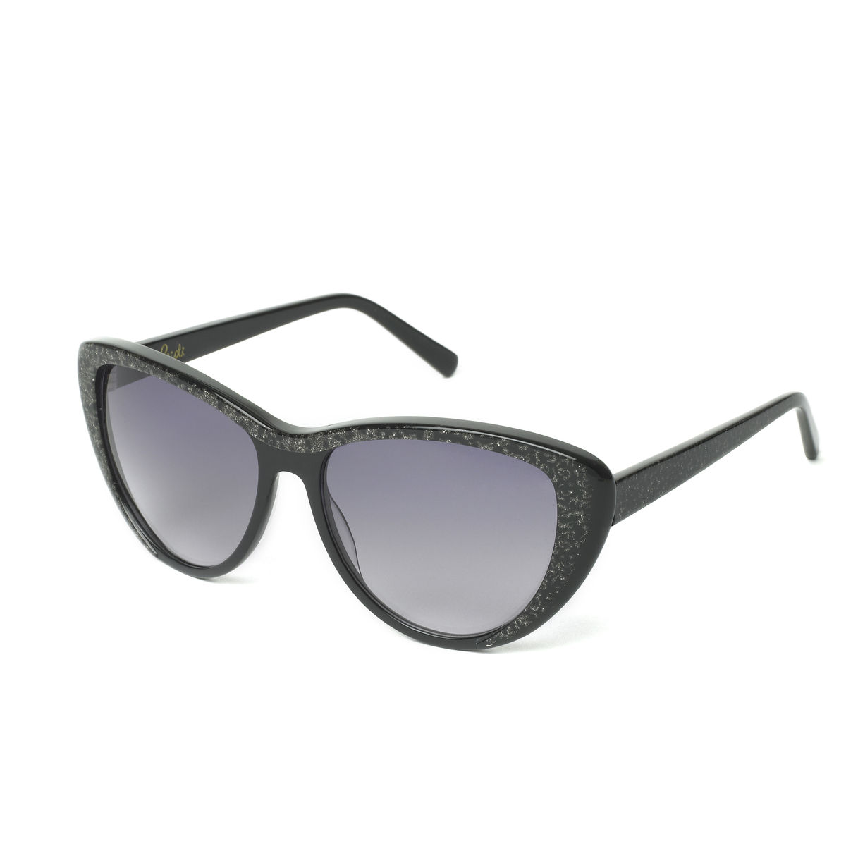 Black Sparkle Cateye Frame Sunglasses (Limited Edition) - Heidi London