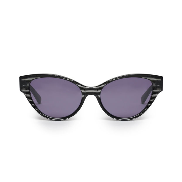 Black Stripe Cateye Frame Sunglasses - product images  of