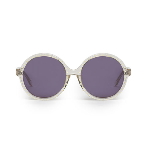 Studded,Circular,Frame,Sunglasses,Heidi London, Crystal Studded Circular Frame Sunglasses