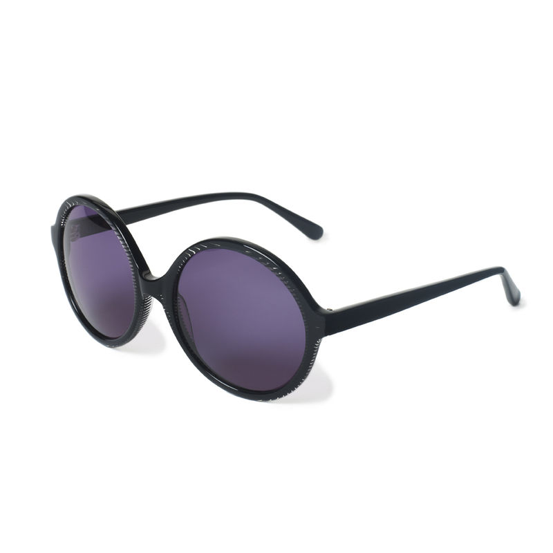 Black Stripe Circular Frame Sunglasses - product images  of