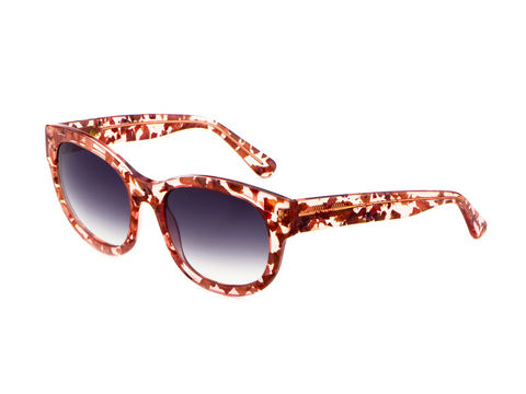 Rose,Petal,Square,Frame,Sunglasses,Heidi London, Rose Petal Square Frame Sunglasses