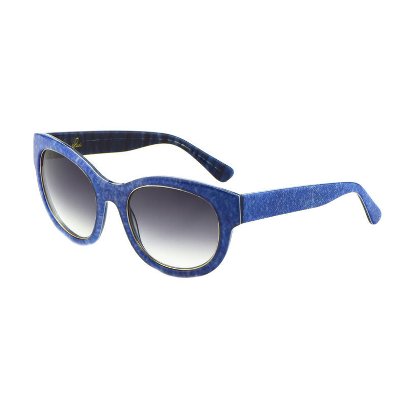 Denim Print Square Frame Sunglasses - product images  of