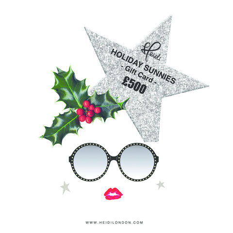 E-GIFT,CARD,Platinum,HEIDI LONDON XMAS sunlgasses GIFT CARD