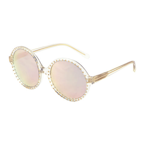 Rose Gold Mirrored Studded Sunglasses - New - product images  of