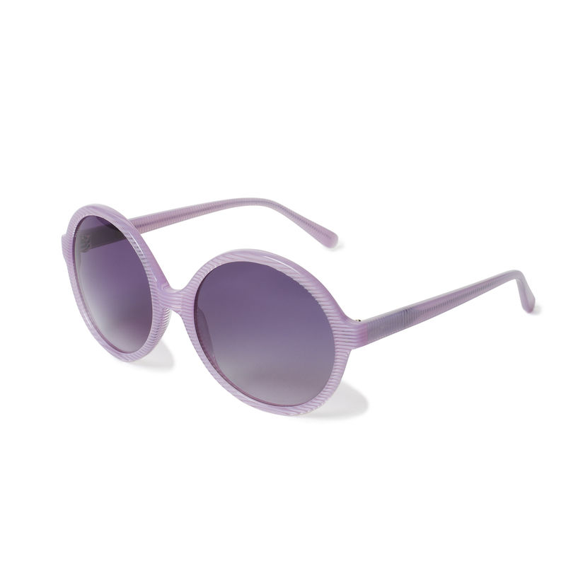 Pink Stripe Circular Sunglasses - New - product images  of