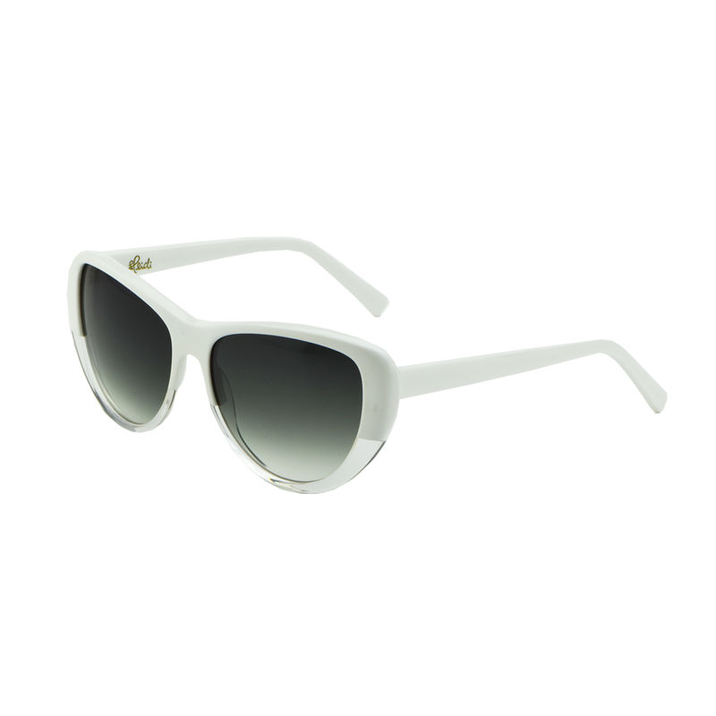 White Transparent Cateye Frame Sunglasses - product images  of