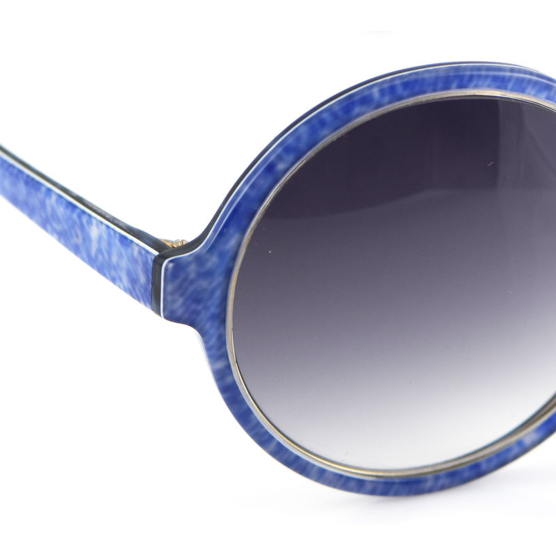 Denim Print Circular Frame Sunglasses - product images  of