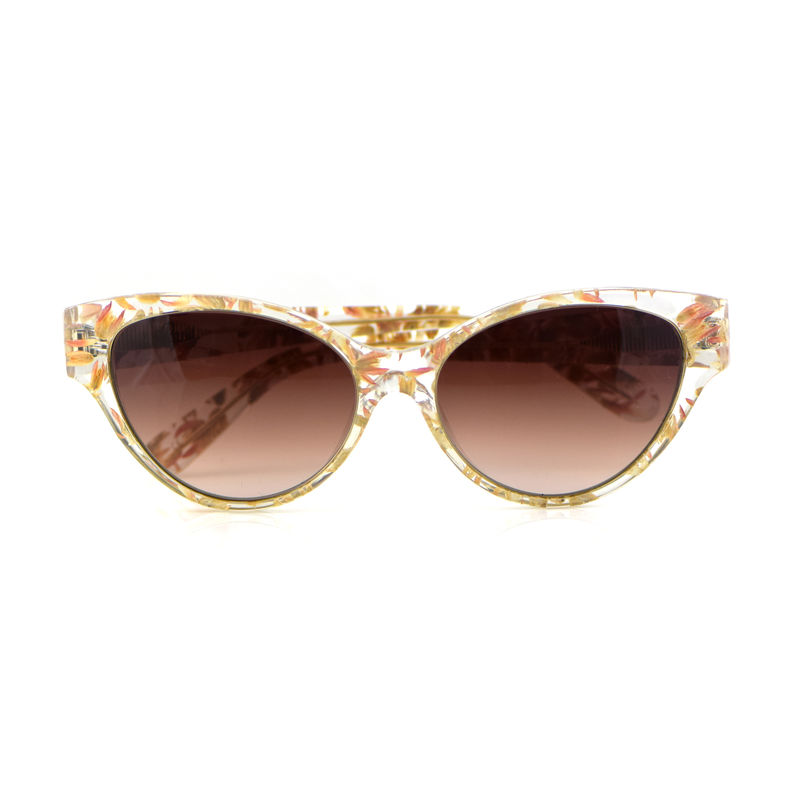Pink Floral Cat Eye Frame Sunglasses - product images  of