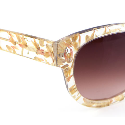 Pink Floral Square Frame Sunglasses - product images  of
