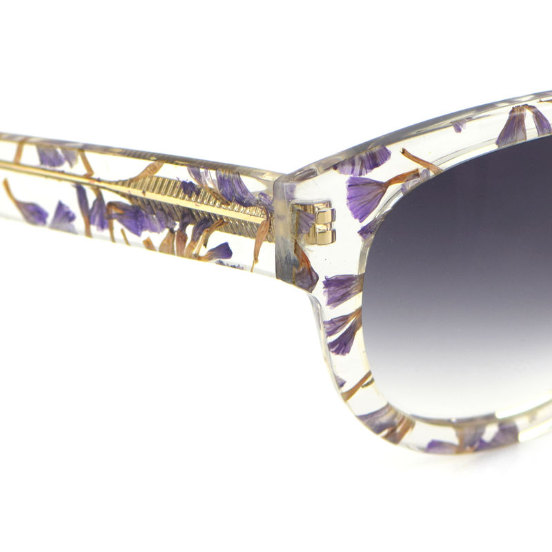 Forget-Me-Not Floral Square Frame Sunglasses - product images  of