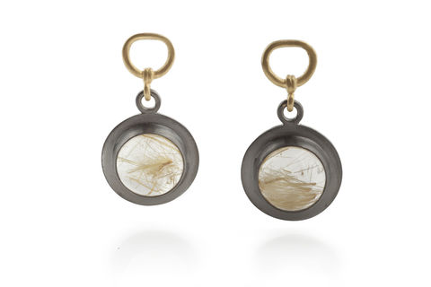Rutilated,Quartz,Earrings,earrings vintage necklace rutilated quartz gold jewellery elegant steampunk