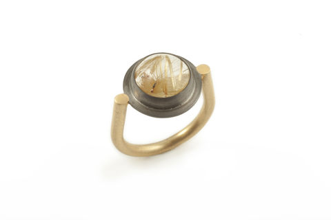 Rutilated,Quartz,Spyglass,Ring,Ring vintage necklace rutilated quartz gold jewellery elegant steampunk