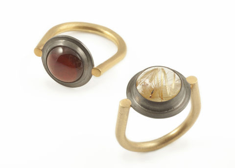 Rutilated Quartz Spyglass Ring - product images  of