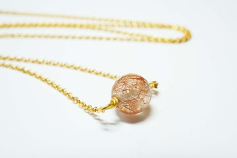 Rutilated,Quartz,Sweetheart,Pendant,pendant, necklace, vintage, rutilated quartz, bead, sweetheart pendant, gold plated, jewellery, cute, steampunk