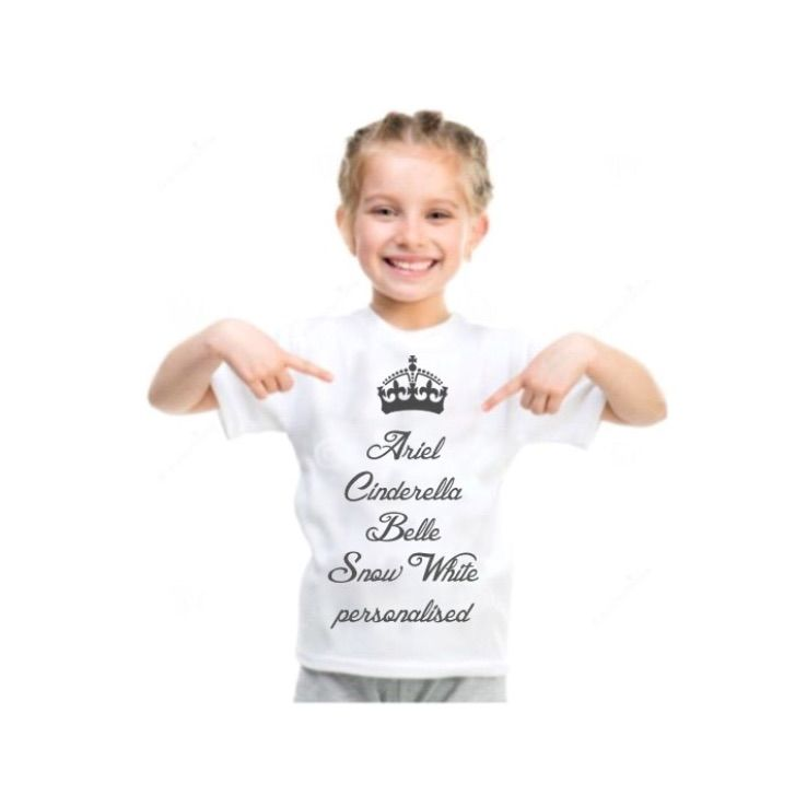 "Kids ""princess "" personalised tee - product images  of"