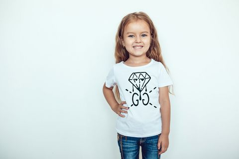 Kids,unisex,diamond,G,tee,