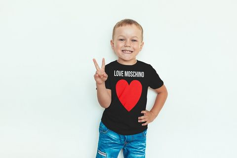 Kids,unisex,red,love,heart,M,tee,