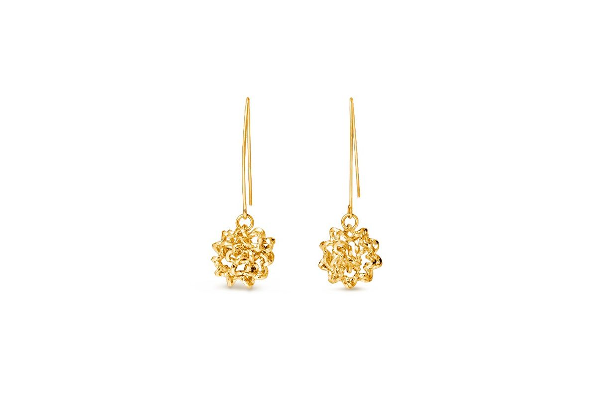 Handmade Foil Brunch Earrings (Gold) - product image