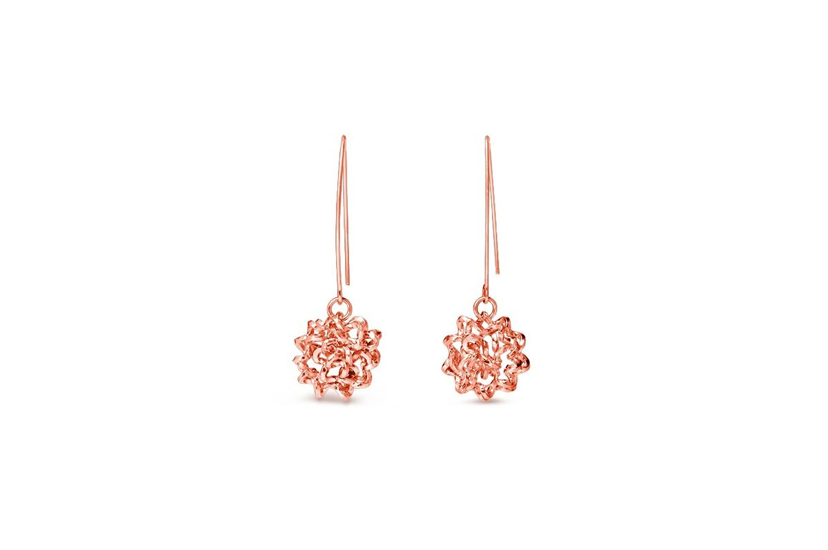 Handmade Foil Brunch Earrings Rose Gold - product image