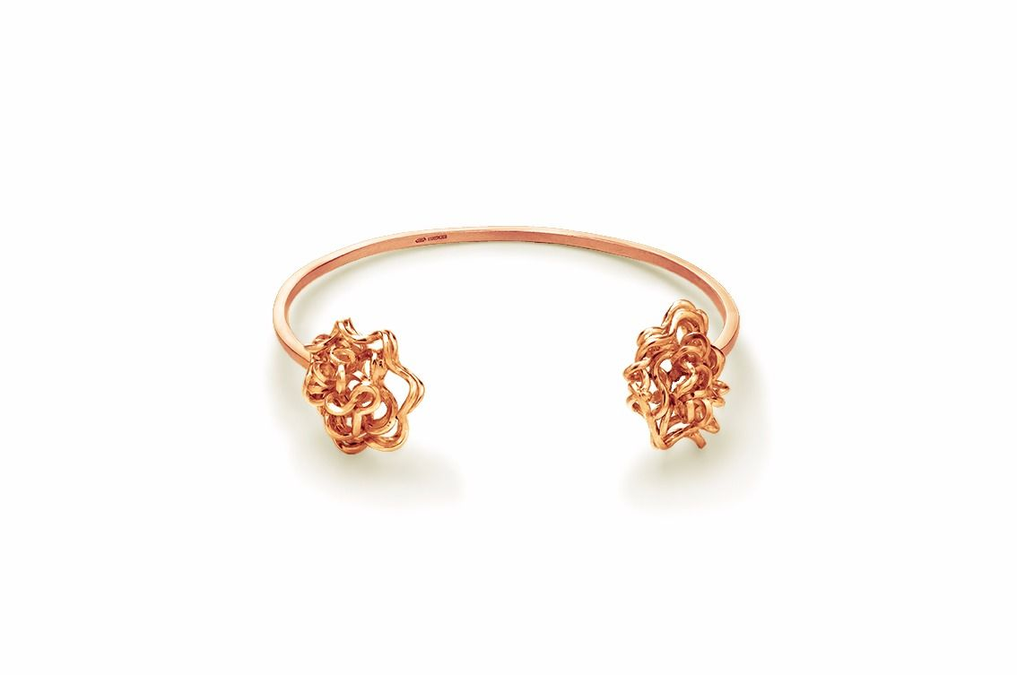 Handmade Foil Brunch Bangle Rose Gold - product image