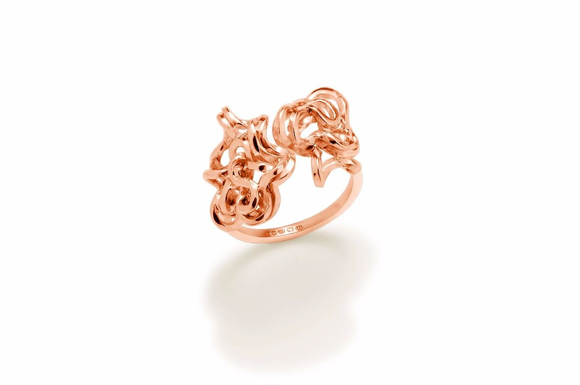 Handmade Double Foil Brunch Ring (Rose Gold) - product image